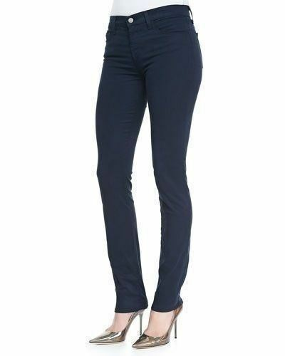 J Brand 8112 Carbon bluee Luxe Sateen Mid-Rise Rail Stretch Denim Jeans Size 24