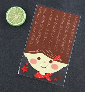10-Large-Girl-Cellophane-Party-Favor-Gift-Crafts-Bags-12-x-20cm