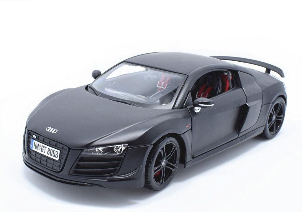MAISTO 1 18 Audi R8 GT Diecast Metal Voiture Modèle  noir mat nouveau IN BOX  centre commercial professionnel intégré en ligne