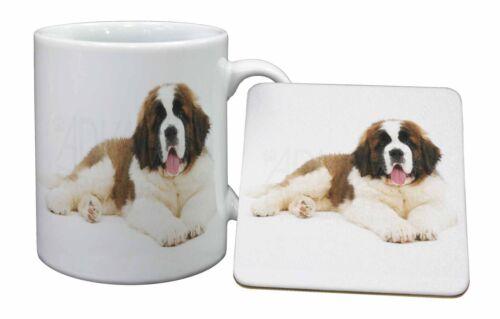 AD-SBE5MC St Bernard Dog Mug+Coaster Christmas//Birthday Gift Idea