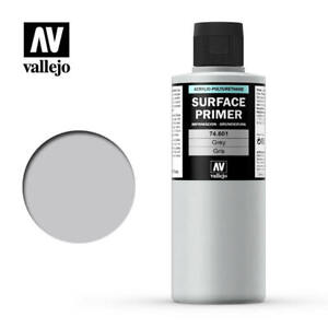 VALLEJO-AIRBRUSH-PAINT-MODEL-AIR-SURFACE-PRIMER-GREY-200ML-74-601