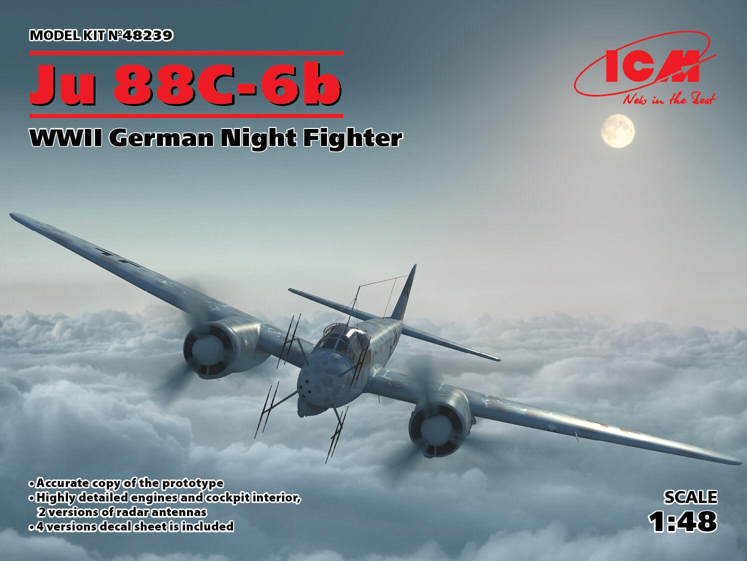 Icm 1 48 Junkers Ju-88C-6b Seconda Guerra Mondiale Tedesco Notte Fighter  48239