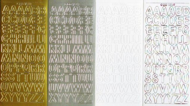 UPPERCASE ALPHABET 18mm (1.8cm) PEEL OFF STICKERS Capital Letters ABC Alphabets