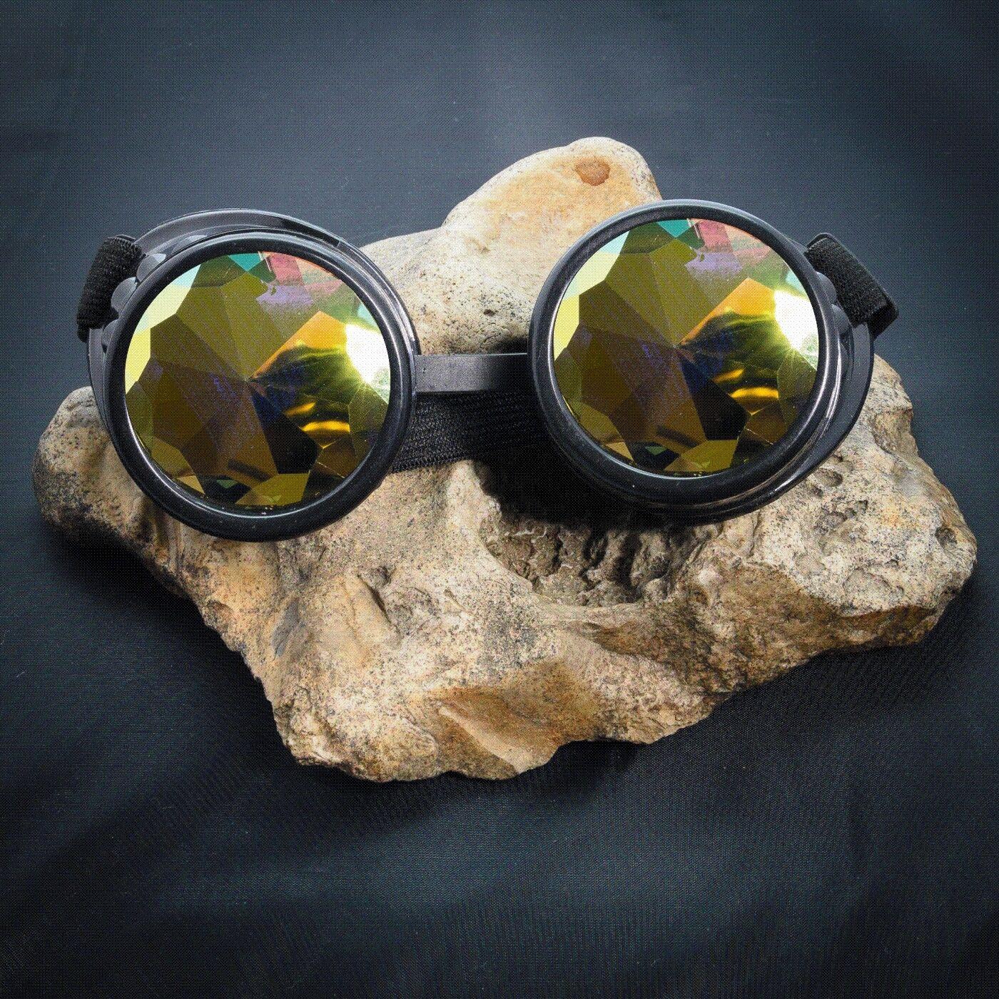 Steampunk Vintage Retro Cyber Diesel Kaleidoscope Goggles Victorian