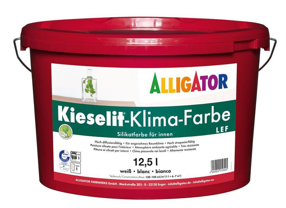 8x Alligator Kieselit-Klima-Farbe 12,5 Liter -Sol-Silikatbasis-
