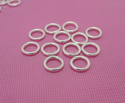 wholesale 100 Pcs Silver Plated Strong Open Jump Rings 8mm 1.2mm freeshipping