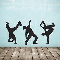 Street Dance Wall Stickers - Pack of 3 - Hip Hop Dancer Decals