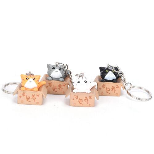 4X Gatti portachiavi a catena Cat chiave borsa dell/'automobilePortachiavi GiftWQ