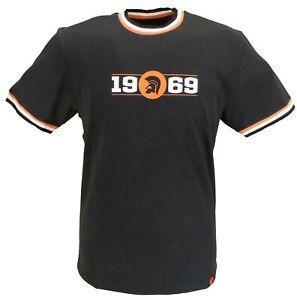 Trojan-Records-Mens-Black-Orange-1969-Logo-100-Cotton-Peach-T-Shirt