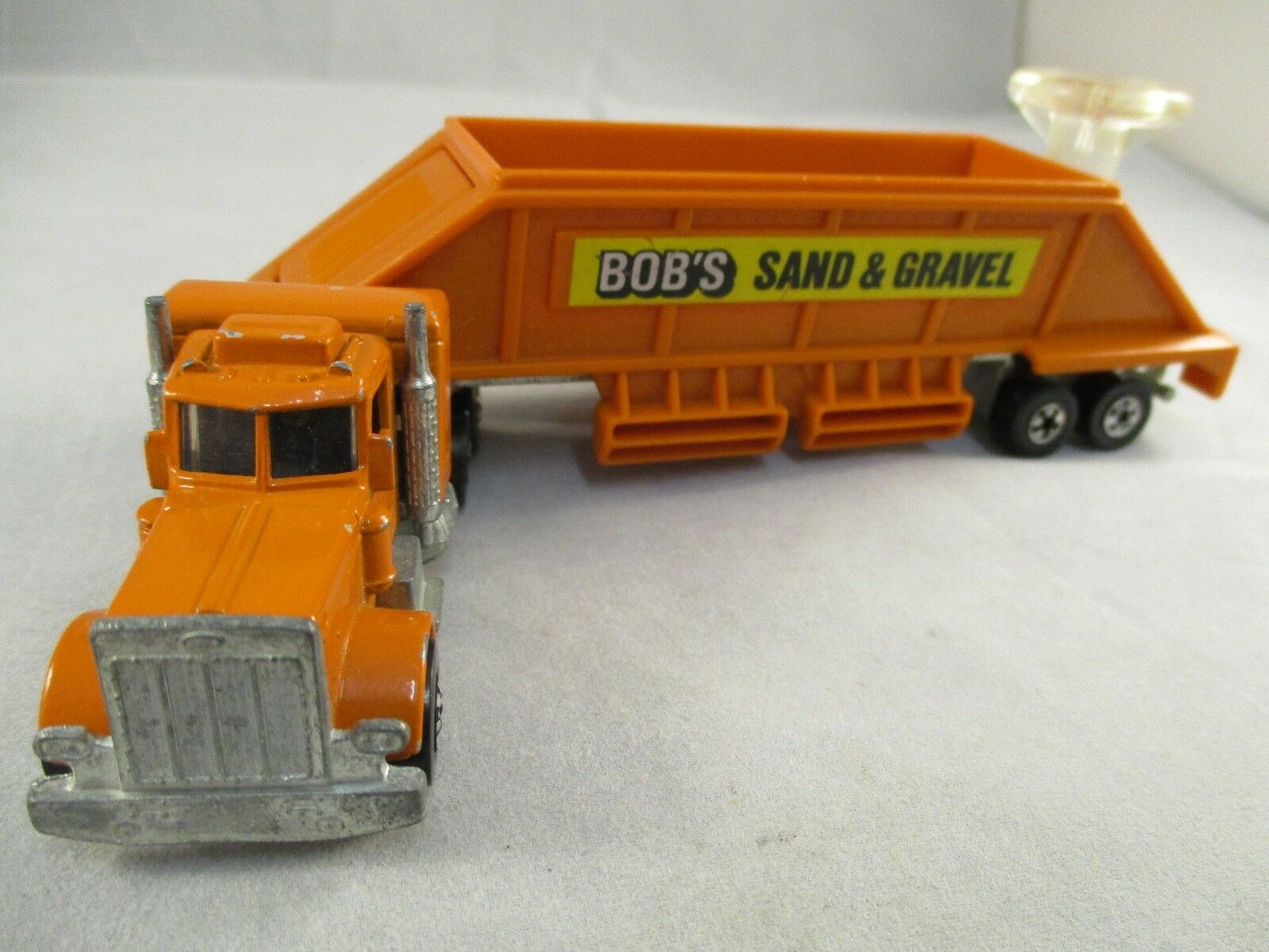 Vintage Hot Wheels PETERBILT HAULER BOB'S SAND & GRAVEL Steering Rigs Rare VGC