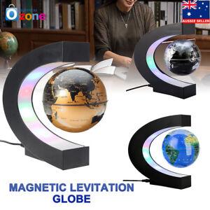 Magnetic Levitating Rotating Globe World Map LED Lamp Light Education