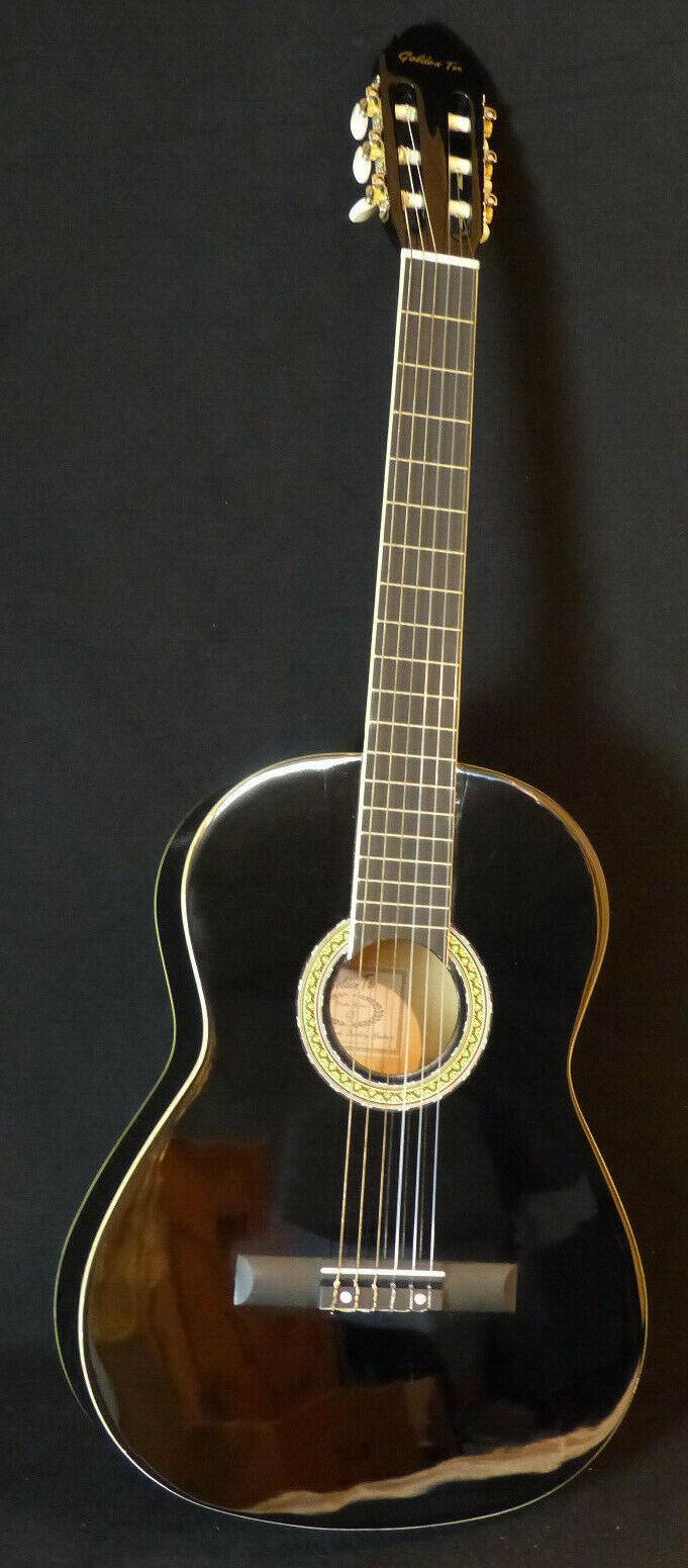 EV20-0004 Konzertgitarre Golden Ton , schwarz FSC , Handarbeit