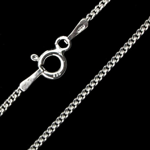 Solid .925 Italian Sterling Silver Curb Chain Gourmette Necklace 1.5mm