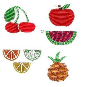 Beadworx-fruits-trousseaux De Clés Fabriqué à La Main ~ Perles Travail-cadeau De Perles-afficher Le Titre D'origine