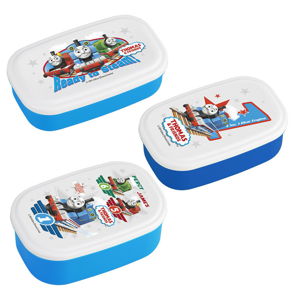 Various Thomas Lunch Products - 3 Lunch Lunch Lunch (Bento) Boxes, Thermos, Spoon and Fork 1d6983