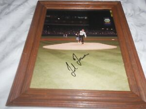 RARE TED TURNER THROWING OUT FIRST PITCH  AUTOGRAPHED 8 X 10 PHOTO