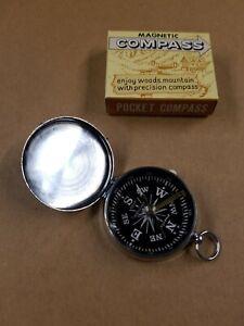 1-3/4 inch Vintage Pocket Magnetic Compass Made In Japan