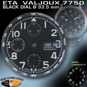 DIAL-FOR-MOVEMENT-ETA-VALJOUX-7750-TACHYMETER-RING-BLACK-SUPER-LUM-33-5mm