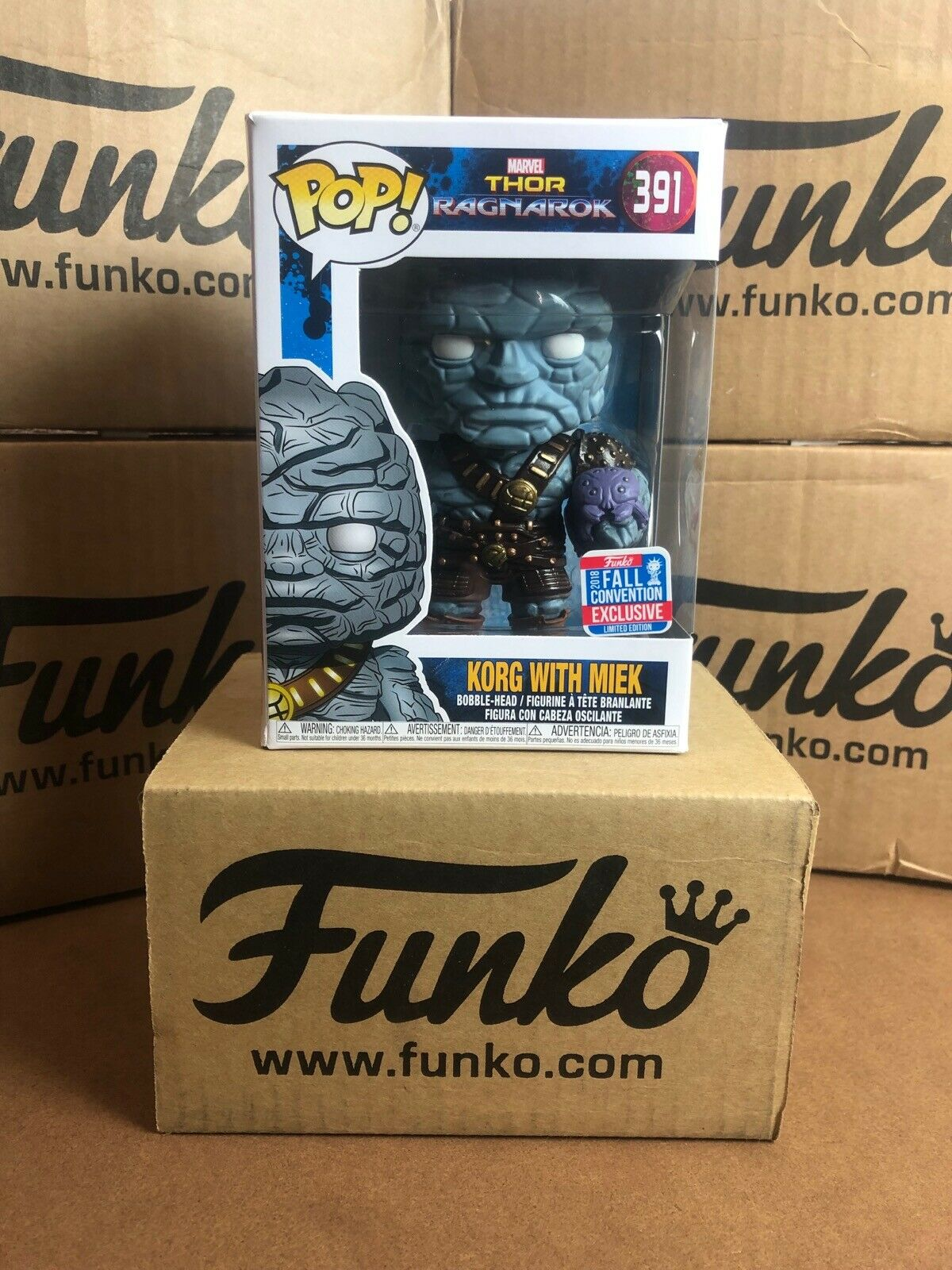 Funko POP  Marvel Thor Ragnarok KORG WITH MIEK NYCC Exclusive & Predector