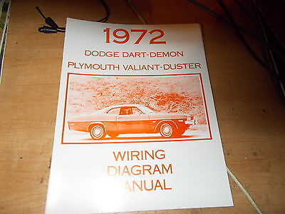 1972 dodge dart demon wiring diagram manual ebay. Black Bedroom Furniture Sets. Home Design Ideas