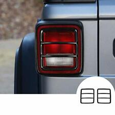 2x Tail Light Rear Lamp Protector Guard Trim Cover For Jeep Wrangler Jl 2018 19 Fits Jeep