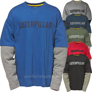 21a423d680 Details about Caterpillar T shirt Men CAT Thermal Layer Long Sleeve Graphic  Logo Tee T- Shirts