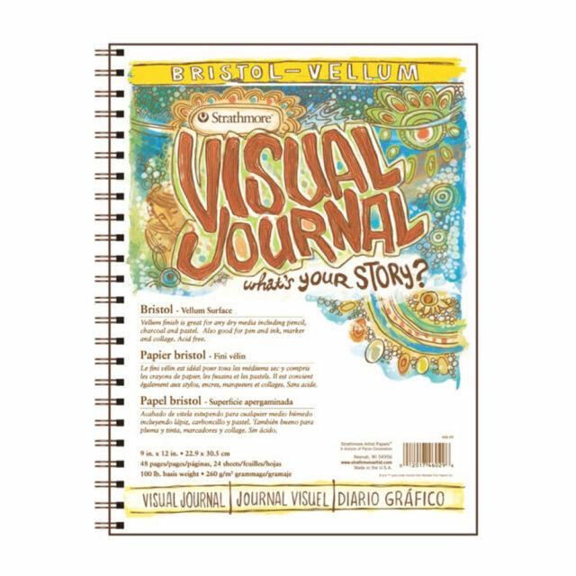 "Strathmore Visual Journal Bristol Smooth 9/""X12/""-28 Sheets 460390"