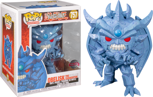RARE Obelisk the Tormentor Yu-Gi-Oh 6 inch Funko Pop Vinyl New in Box