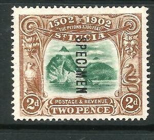 ST LUCIA 1902 2d DISCOVERY SPECIMEN MNG SG 63s