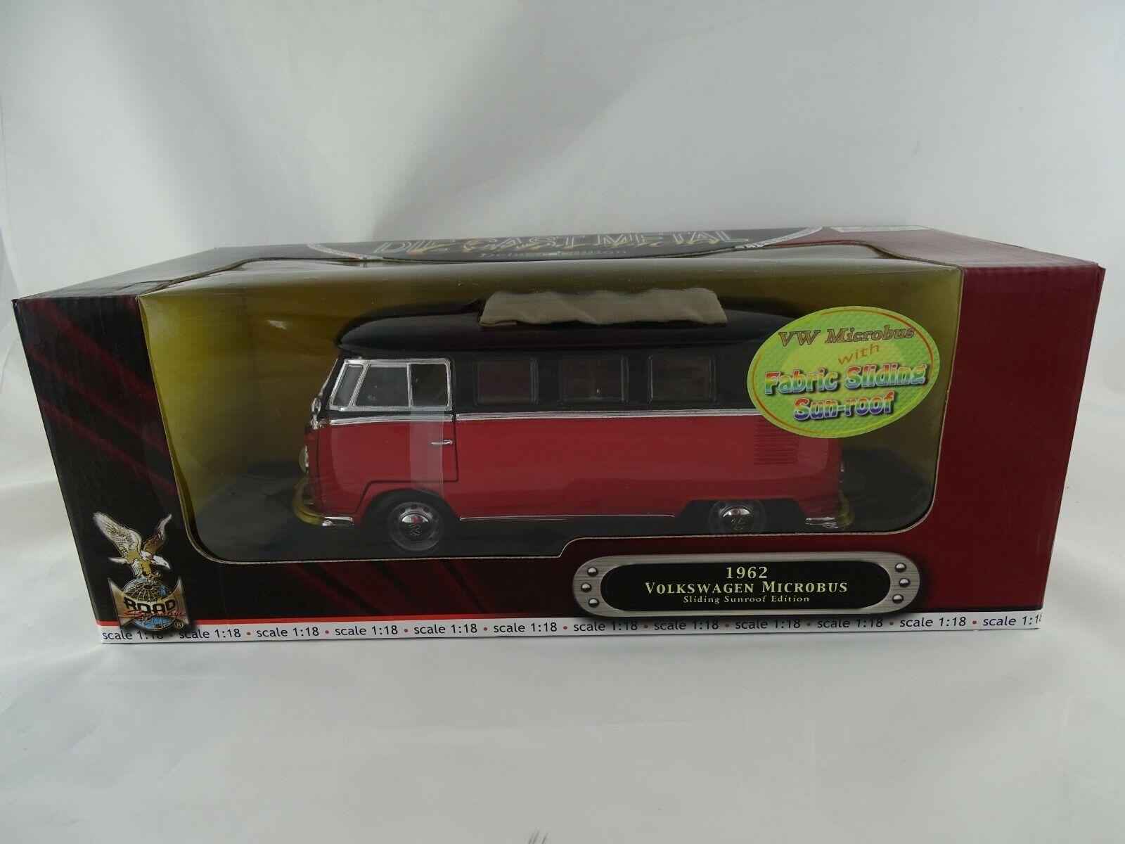 1 18 Road Signature  92327 1962 Volkswagen Microbus Sliding Sunroof EDT. RARE