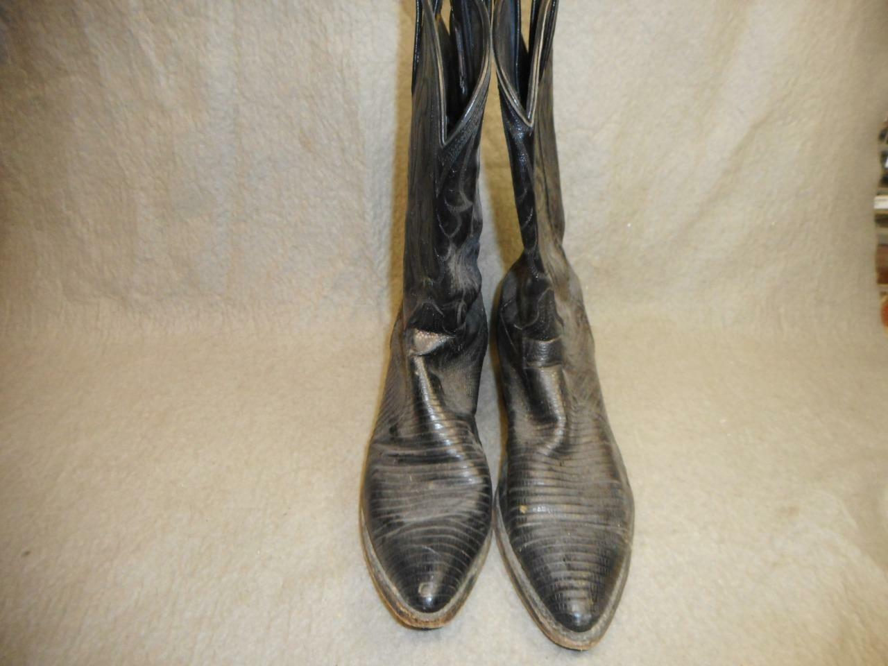 WOMEN'S DAN POST BLACK COWGIRL BOOTS  SIZE 7 M  USED N R