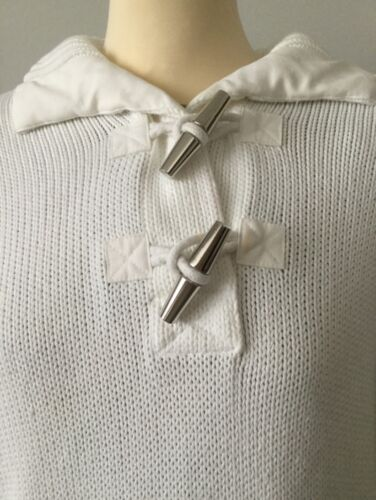 Col De Argent Taille Lauren Pull XL Fixation Ralph Coton Tricot En De Blanc gEvq8w