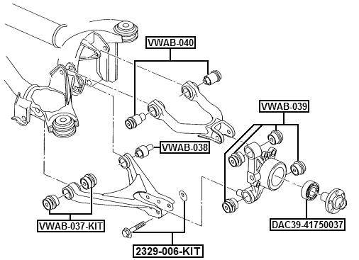 Arm Bushing Rear Lower Arm Febest Vwab 038 Oem 8e0511523c