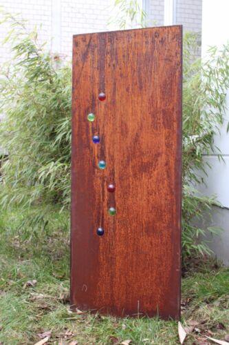 Edelrost Garten Sichtschutze Rost Garten Sichtschutze Wand Glaskugel H125*50cm
