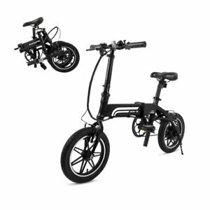 SwagCycle EB-5 Lightweight Folding E-Bike 250W w/ Lithium Ion Battery & Pedals