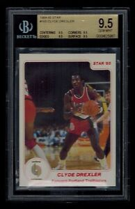 1984-85-Star-CLYDE-DREXLER-card-165-BGS-graded-9-5