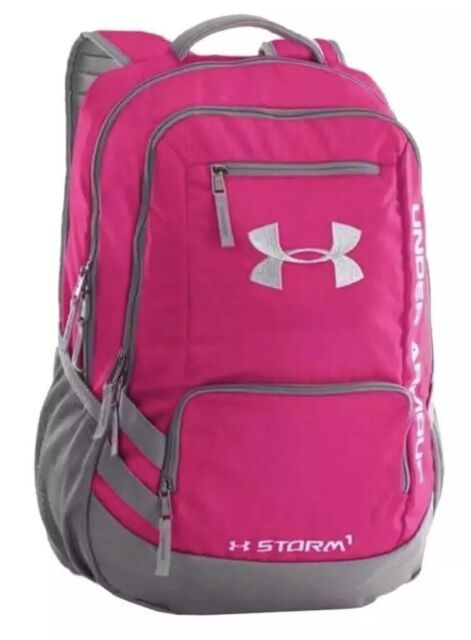Under Armour Backpack Hustle II Storm1 Tropic Pink   Gray NWT Unisex 1263964  654 961cdc37377fe