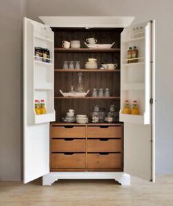 Küchenschrank weiß landhausstil  Vorratsschrank TOSCANA Küchenschrank Holz Schrank Landhausstil ...
