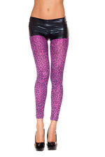 Sheer Leopard Cheetah Spots Animal Cat Costume Footless Furry Pantyhose Opaque