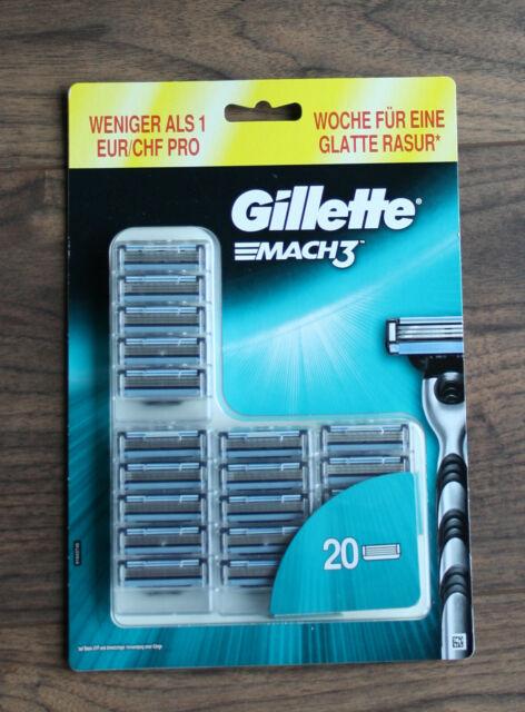 Gillette mach3 klingen 20 stück