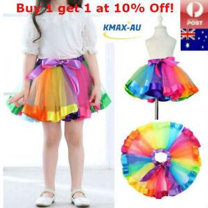 Girls-Rainbow-Dance-Tutu-Skirt-Ballet-Costume-Petticoat-Dress-Kids-Princess