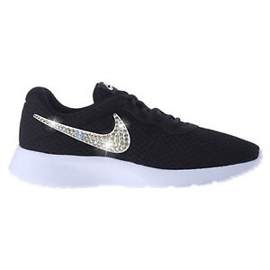 Image is loading Bling-Nike-Tanjun-Shoes-with-Swarovski-Crystal-Diamond- 5236c84ae0dd