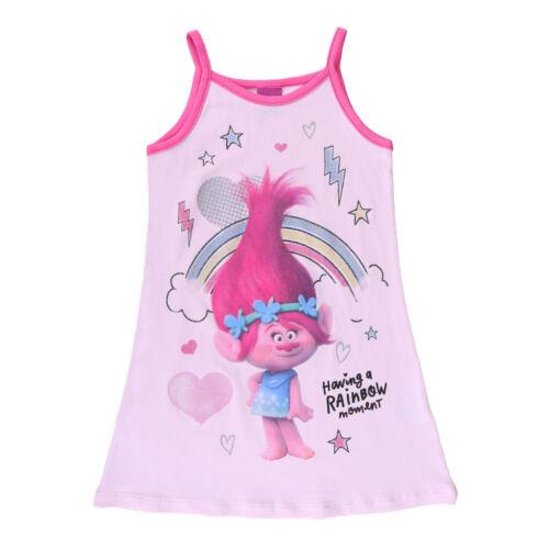 Trolls NEUF Robe Top Hängerchen Rose Taille 98 104 116 128 81009
