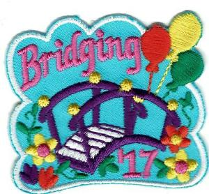 Girl BRIDGING '17 2017 Ceremony Event Fun Patches Badges crests SCOUTS GUIDES