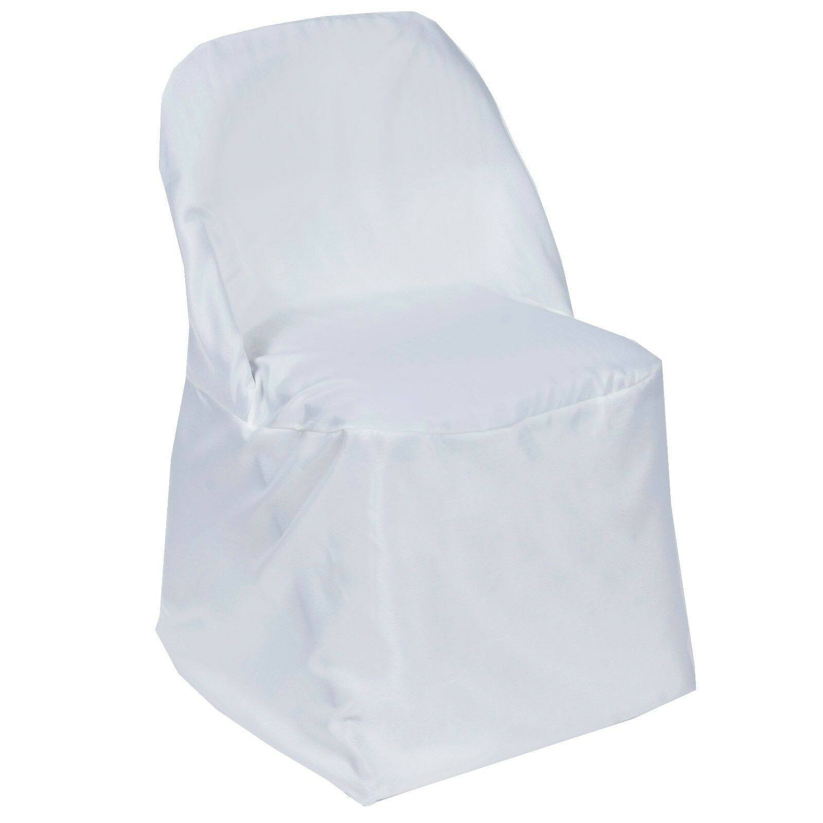 20 Weiß POLYESTER ROUND FOLDING CHAIR COVER. NEW