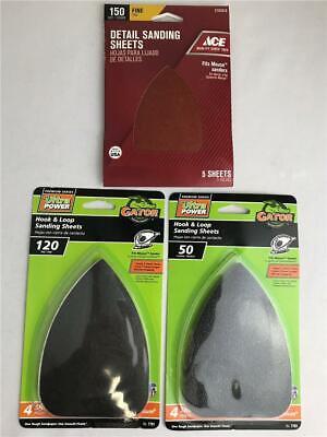 Gator Mouse Sandpaper 80-Grit Commercial Hook And Loop Detail Sandpaper 12 Pack