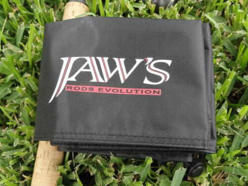 New 9/' Black Jaws Quarter Cut Rod Cover FOR Calstar Daiwa Shimano G-Loomis Rod