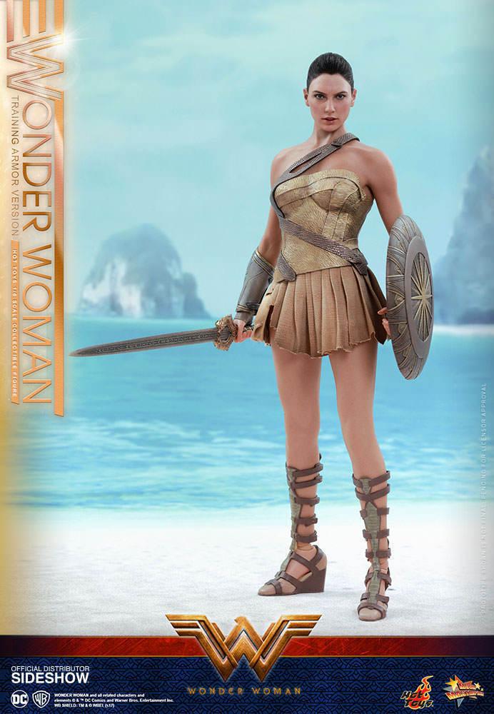 Hot Toys WONDER WOMAN Training Armor Version 1 6 Figure Gal Gadot Dc MMS424