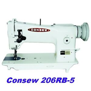 Consew 206rb 5 Triple Feed Upholstery Walking Foot Sewing Machine
