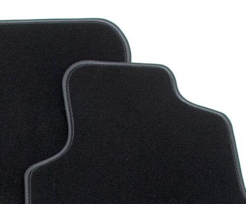 Black Luxury Premier Carpet Car Mats for Jaguar XJ X350 03-07 Leather Trim